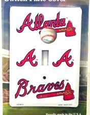 Novelty MLB Atlanta Braves single switch light switch cover aluminum new LS10024