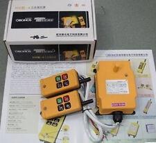 2 Transmitters 4 Channels Hoist Crane Radio Remote Control System 220V AC