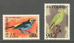 SURINAME 1985-1986, BIRDS, Scott C101-C102, MNH