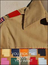 BSA Boy Cub Scout Uniform Shoulder Loops Epaulet New ANY COLOR - ANY QUANTITY!!!