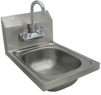 "ACE Wall mount hand sink w/ No Lead Faucet, strainer 12'Wx17""L HS-1217WG"