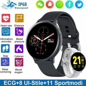 IP68 Wasserdicht Smartwatch Armband Uhr  EKG Pulsuhr Blutdruck Tracker Sportuhr
