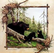 "Anita Phillips ""Black Bears IV"" Bear Print Image Size 12 "" x 12"""