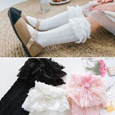 Girls Babys Toddlers Frilly Vintage Knee High Party Wedding School Socks 9m- 8y