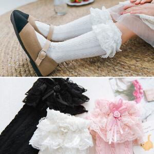 Girls Babys Toddlers Frilly Vintage Knee High Wedding School Socks 9 mon- 8 yrs
