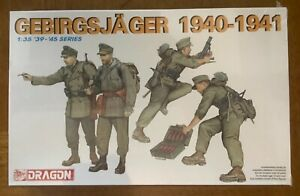 Dragon Models Gebirgsjager 1940-1941 Item # 6345 1:35 Scale Model Kit 1/35