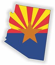 Arizona Map Flag Sticker for Locker Hard Hat Laptop Tablet Fridge Car Bumper PC