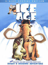 Ice Age (DVD, 2002, 2-Disc Set, Includes Full Frame and Widescreen Versions) EUC