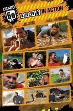 DEADLY 60 ~ STEVE BACKSHALL IN ACTION 24x36 POSTER TV Animals Endangered Species