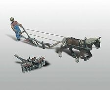 WOODLAND SCENICS HO SCALE 1/87 KIT  PLOW,DISC, HORSE,& MAN | 210