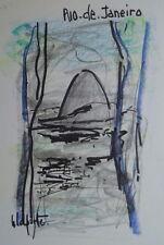 Georges LAPORTE (1926-2000) Technique mixte/papier Rio de Janeiro P1812