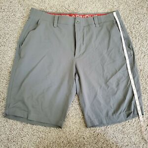 Men's Under Armour Golf Shorts, Gray, 11 inch inseam