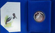 Birds of Australia 1991 Jabiru $10 Sterling Silver Proof RAM Case & COA