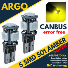 501 Canbus 5 Smd Xenon Hid Led Amber Error Free Car Side Light Bulbs T10 W5w