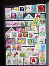 COLLECTION OF THEMED STAMPS: FLOWERS