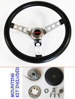 "GMC Pick Up Truck Jimmy Van GRANT Black Steering Wheel 13 1/2"" GMC cap"