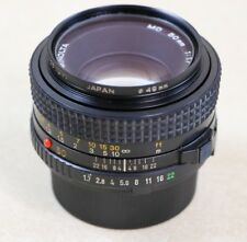 Minolta Lens MD 50mm 1:1.7 Japan 49mm with Caps