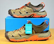 HOKA ONE ONE Men's Tor Trafa Sport Sandals (Brindle / Red Orange) US 9.5 M