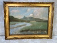 Lance Roy Lauffer Landscape Painting o/c, Mountain Landscape with River, Signed