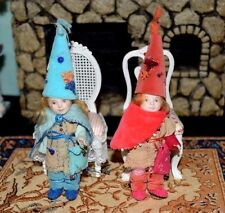 Miniature Porcelain Doll Girl Dollhouse 1:12 Elves Pair