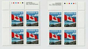 Canada Stamps 1682 Plate Block Pairs 8 x 46c FLAG OVER ICEBERG 1998, Dec 28