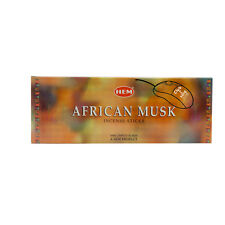 AFRICAN MUSK - HEM INCENSE STICK HEXA  PACK OF 12 x 20 STICKS = 240 STICKS