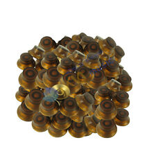 Dark Brown Guitar Knobs Top Hat Bell Skirt For LP  Style-Set of 50