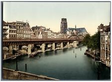 Rotterdam. De Kolk. PZ vintage photochromie,  photochromie, vintage photochrom