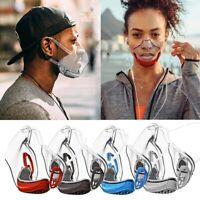 5 Pcs Masque Protection Transparent de sécurité réutilisable 11.5x13x6cm Adultes
