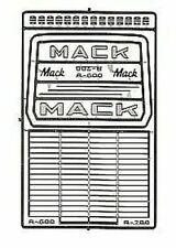 DETAIL MASTER 1/24-1/25 MACK R600/R700 TRUCK GRILLE 2562