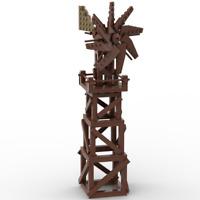 PDF Anleitung Instruction MOC Western Holz Windrad aus Lego Steinen