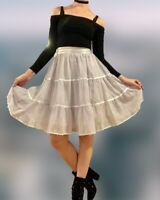 Gunne Sax Vintage Prairie Petticoat Skirt Cottagecore Lilac Purple XS