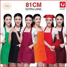 Apron With Pocket Chef Kitchen Cooking Cotton Women Men Unisex Ladies Bib Work