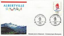 2632 FDC ENVELOPPE 1er JOUR EDITION NUMISMATIQUE  FLAMME JO ALBERTVILLE
