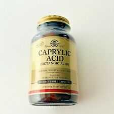 Solgar Caprylic Acid (Octanoic Acid), 100 Vegetable Capsules, Exp 05/2022