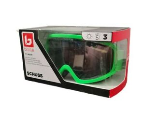 Bolle Ski Goggles Schuss (M) 21807 Matt Neon Green S3 Black Chrome Lens BNIB