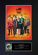 #272 THE BIG BANG THEORY No1 Reproduction Autograph Mounted Signed Photograph A4