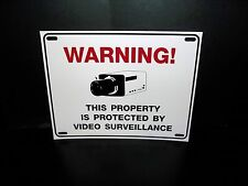 LOT OF SPY SECURITY VIDEO SURVEILLANCE IS IN USE CAMERA WARNING SIGNS+STICKERS