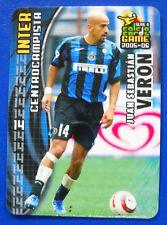 PANINI CALCIO CARDS GAME 2005-06 - N. 57 - JUAN SEBASTIAN VERON - INTER - new