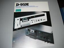 New listing Sansui D-95M Cassette Deck , Brochure original Manual