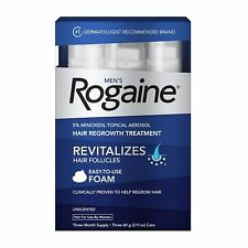 Men's Rogaine 5% Minoxidil Foam for Hair Loss and regrowth 3Month Supply(3Packs)