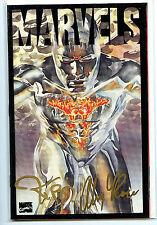 Marvels Issue #3 Alex Ross Kurt Busiek Signed Acetate Cover Comic nm/mt 1994 H30