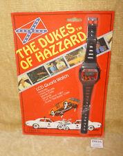 RARE VINTAGE UNISONIC DUKES OF HAZZARD LCD QUARTZ WATCH NEW MOC 1981 DH-1001B