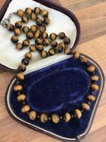Vintage Tiger's Eye Beaded Necklace 37gr