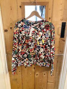 Zara Disney Christmas Mickey Mouse Sweatshirt Jumper Size Medium BNWT Rare