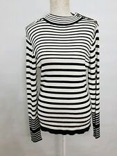 Womens Queenspark Knitted Stripe Long sleeve Top Rayon LARGE exellent condition