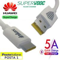 5A 🚀 SUPER CAVO USB TYPE C 3.1 HUAWEI P 10 20 30 MATE X 9 RICARICA FAST CHARGE
