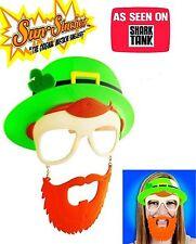 Sun-Stache St Patricks Day Irish Novelty Shamrock Glasses Drinking Party Funny