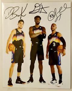 DEVIN BOOKER CHRIS PAUL DEANDRE AYTON NBA PHOENIX SUNS SIGNED 8X10 PHOTO REPRINT