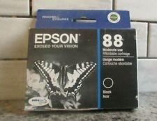 GENUINE Epson 88 Black Ink Cartridge • Date: 12/2015 • FREE SHIPPING! [231]